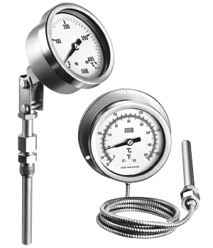 Gas-Filled, Bimetal and Glass tube Thermometers