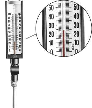 WEATHERPROOF ADJUSTABLE GLASS TEMPERATURE GAUGES s