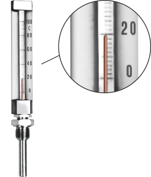 TEMPERATURE GAUGES WITH RECTANGULAR ALUMINIUM CASE