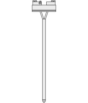 CERAMIC THERMOSENSOR INSERT con Thermocouple EJ